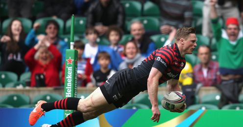 RUGBY RUGBY UNION HEINEKEN CUP RUGBY UNION TOURNAMENT CHRIS ASHTON SARACENS V CLERMONT HEINEKEN CUP