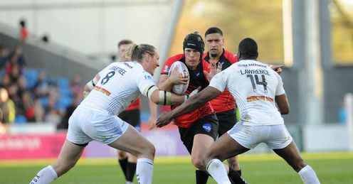 Salford Red Devils Huddersfield Giants Super League Rugby league Shannon McPherson Eorl Crabtree Michael Lawrence