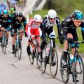 Luke Rowe took a turn on the front of the peloton on a challenging fourth stage