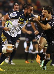 Fotu Auelua of the Brumbies v Sharks 2014