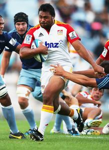 Pauliasi Manu for the Chiefs against Blues in pre season