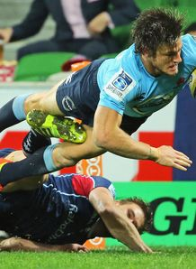 Super Rugby: New South Waratahs race to victory over Melbourne Rebels