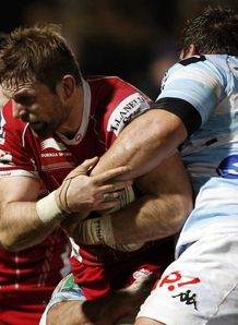 Rob McCusker in action for Scarlets