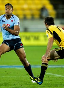 Waratahs full back Israel Folau in pre season game against Hurricanes