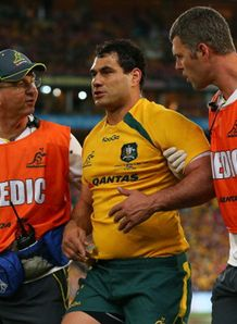 george smith concussion concussed australia wallbies 2013 british irish lions