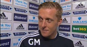 Swansea's finish pleases Monk