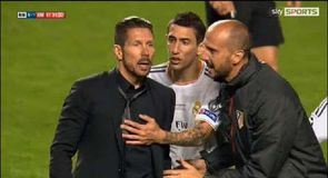 Simeone sent off in Champions League Final