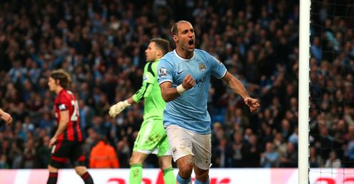 Former Espanyol man Pablo Zabaleta is critical for City at both ends of the park