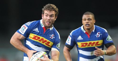 Jaco Taute alongside Juan de Jongh for the Stormers