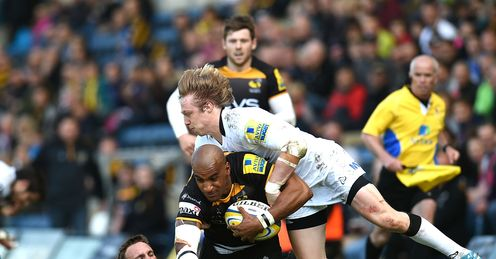 Tom Varndell London Wasps Mike Blair Joel Hodgson Newcastle Falcons