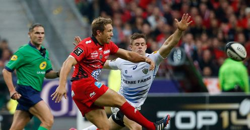 Toulon fly half Jonny Wilkinson drop Top 14 final v Castres