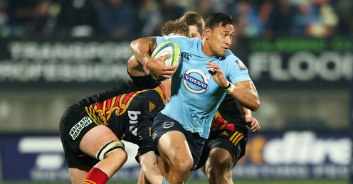 Waratahs full back Israel Folau against the Chiefs
