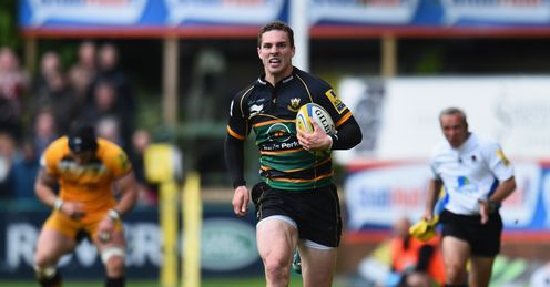 George North try Northampton Saints Aviva Premiership