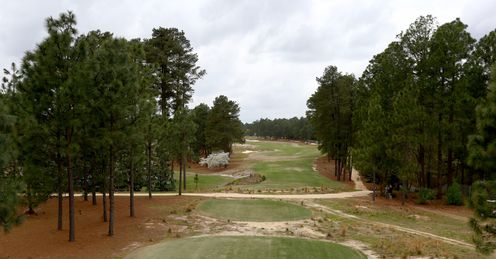 A general view from the tee on the 5th hole during the 2014 U.S. Open Preview Day at Pinehurst No. 2