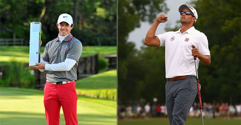 Fighting it at the top: Rory McIlrory and Adam Scott
