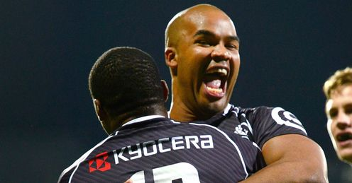 SHARKS CELEBRATE BEATING CRUSADERS
