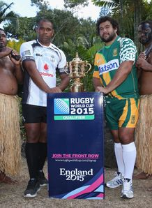 Akapusi Qera of Fiji and Stan Wright of Cook Islands