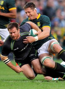 Craig Burden of the World XV Bakkies Botha South Africa