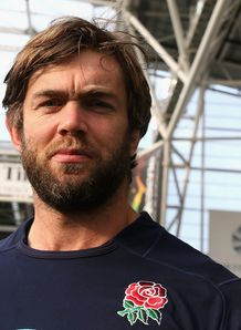 England lock Geoff Parling close up