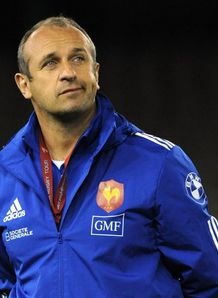 France coach Philippe Saint Andre looks on at France training
