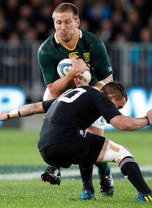 Frans Steyn taking contact for Springboks