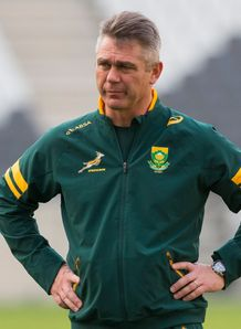 Heyneke Meyer South Africa rugby springboks training session