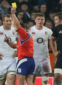 Jaco Peyper sends off Owen Farrell NZ v Eng June 2014