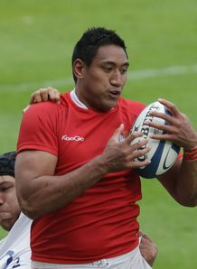 Josh Afu of Tonga line out