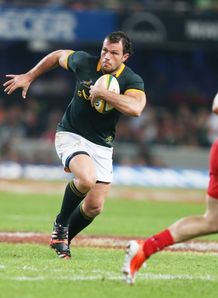 South Africa hooker Bismarck du Plessis carrying against Wales