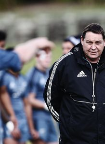 Steve Hansen watching on at All Blacks training