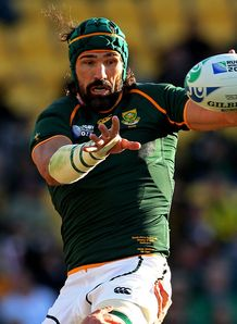 Victor Matfield at Rugby World Cup 2011