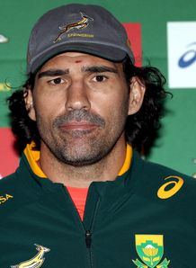Victor Matfield at a Springbok press conference