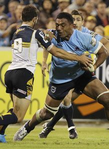 Waratahs number eight Wycliff Palu against Brumbies