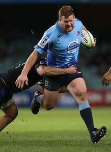 Waratahs prop Paddy Ryan on a run
