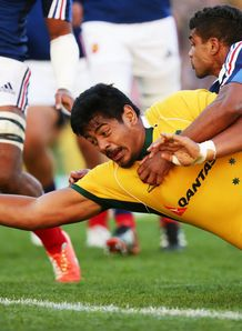 Will Skelton scores a try Australia France 3rd test