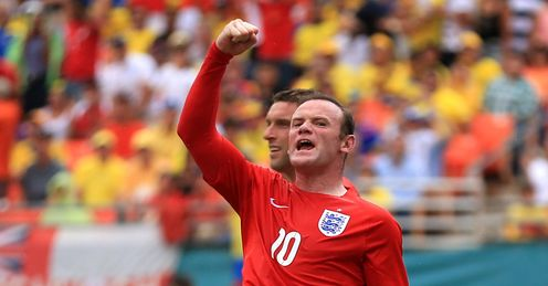 Rooney: played on the left on Wednesday