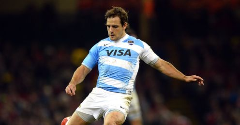 Nicolas Sanchez kicking for Argentina