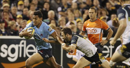 Waratahs full back Israel Folau against Brumbies in 2014