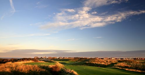 Links course: The 198-yard par 3, 13th hole in the Open Championship at Royal Liverpool Golf Club