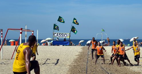 Copacabana Beach - where football continues to thrive