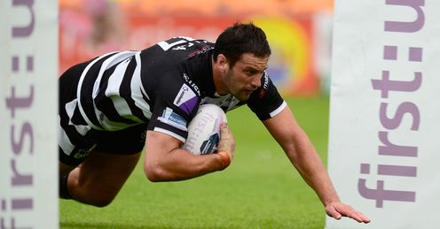LEAGUE DANNY GALEA OF WIDNES VIKINGS SCORES A TRY