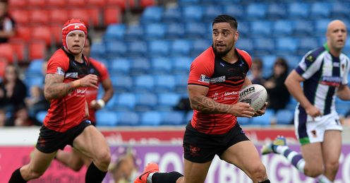 RUGBY LEAGUE SALFORD CITY STADIUM RANGI CHASE