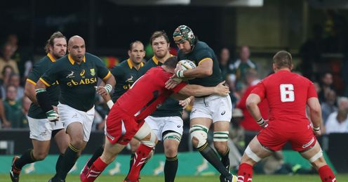 VICTOR MATFIELD (CAPTAIN) OF SOUTH AFRICA DURING THE INCOMING TOUR MATCH BETWEEN AND WALES
