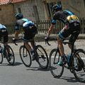 Chris Froome crashed early on but made his way back into the race