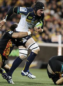 Ben Mowen of the Brumbies v Chiefs 2014