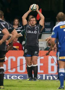 Bismarck du Plessis lineout throw Sharks v Stormers