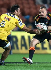 Chiefs fly half Aaron Cruden against the Hurricanes