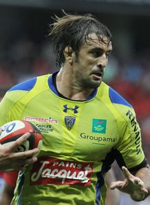 Clermont lock Julien Pierre in action