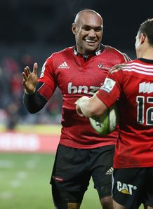 Crusaders wing Nemani Nadolo high five