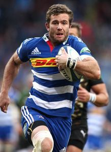 Stormers full back Jaco Taute on a run